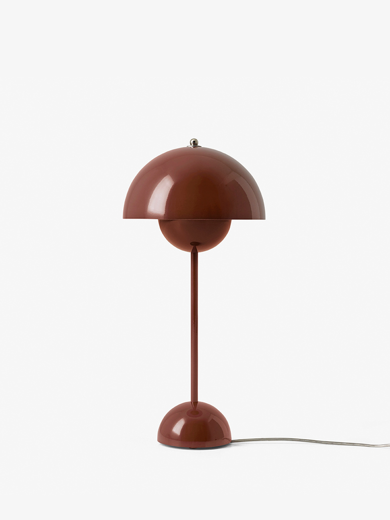Flowerpot VP3 Table Lamp – Red Brown