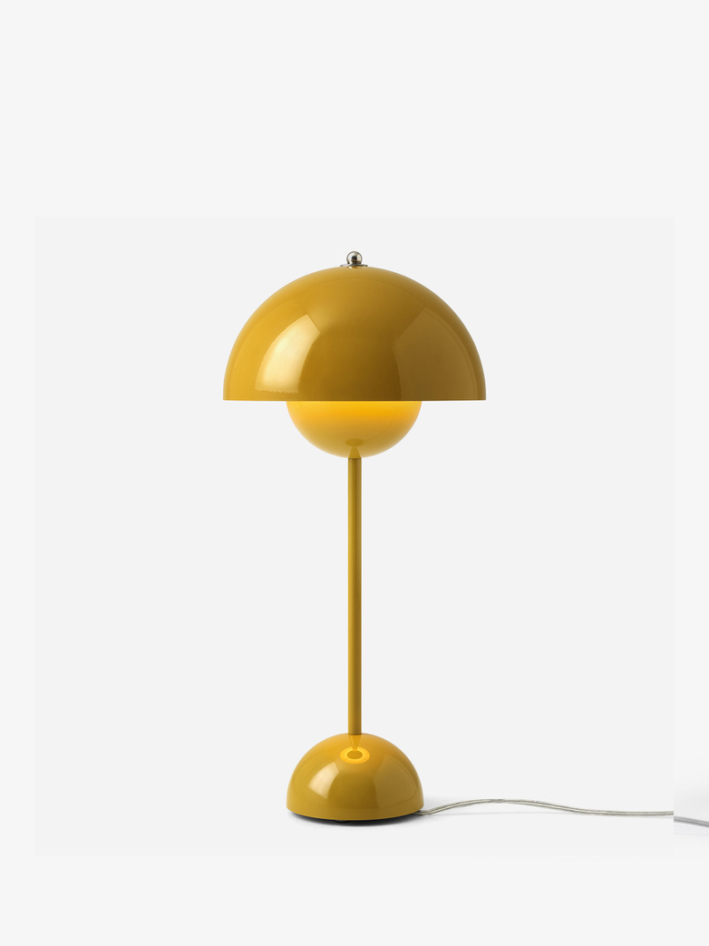 Flowerpot VP3 Table Lamp – Mustard