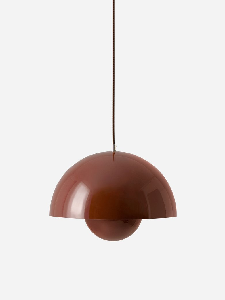 Flowerpot Pendant VP7 – Red Brown