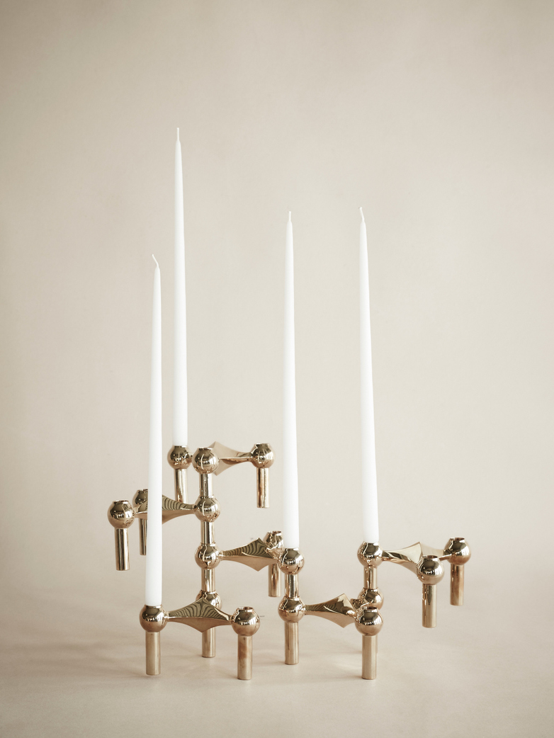 Nagel Candle Holder Solid Brass