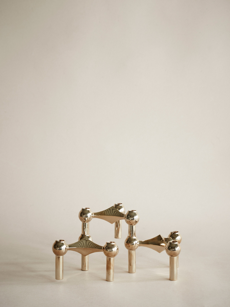 Nagel Candle Holder Solid Brass Set of 3