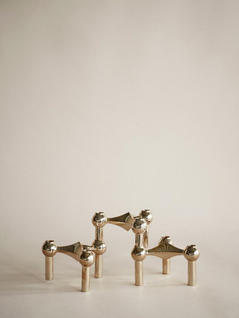 Nagel Candle Holder Solid Brass Set of 3