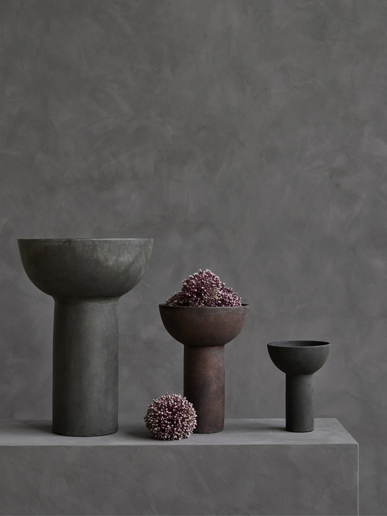 Block Vase Big – Dark Grey