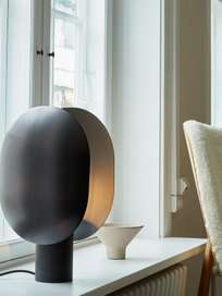 Clam Table Lamp – Burned Black