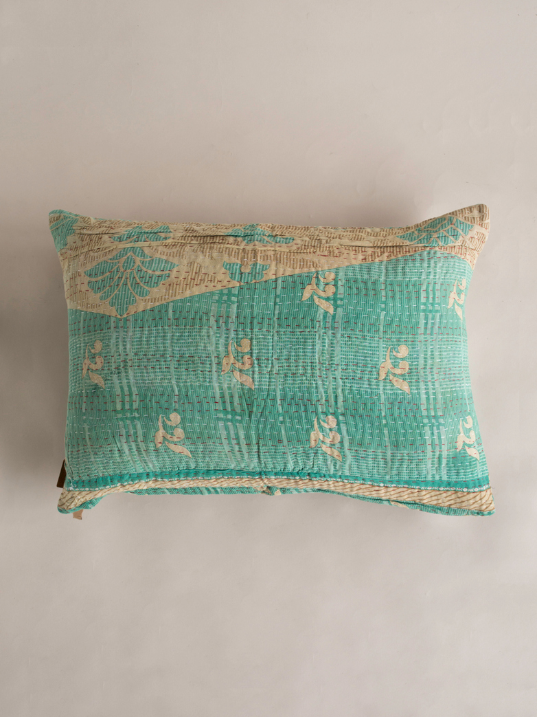 Sari Kantha – Blue Wave – 50 x 70