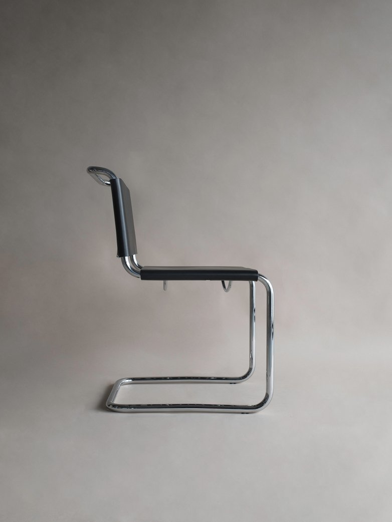 Bauhaus Chair MS44 - Chrome Black Leather