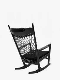PP124 Rocking Chair – Black Lacquered – Black
