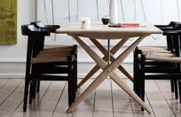 PP85 Crossed Legged Table – Soaptreated Ash – 180