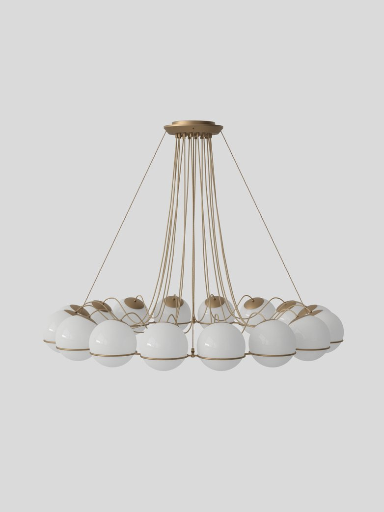 Model 2109 - 16 Opaline Spheres - 20 cm Champagne