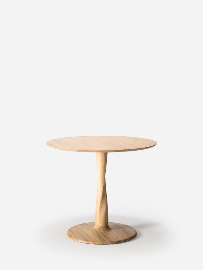Torsion Dining Table – Oak – Ø90