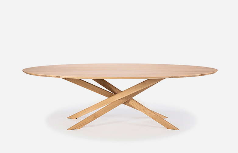 Mikado Dining Table – Oak – Oval