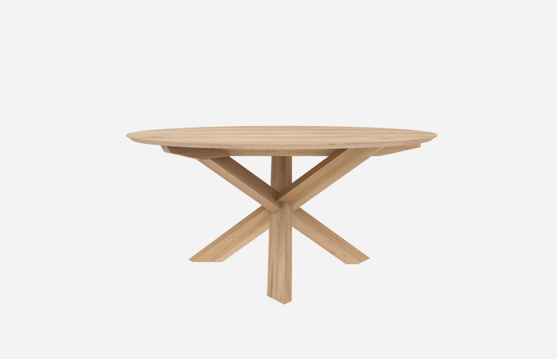 Circle Dining Table – Oak – Ø163