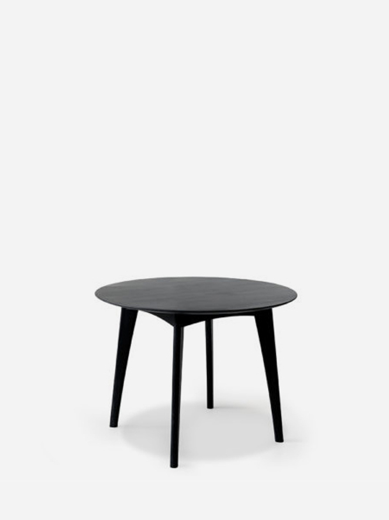 Osso Round Dining Table – Oak Black – Ø120