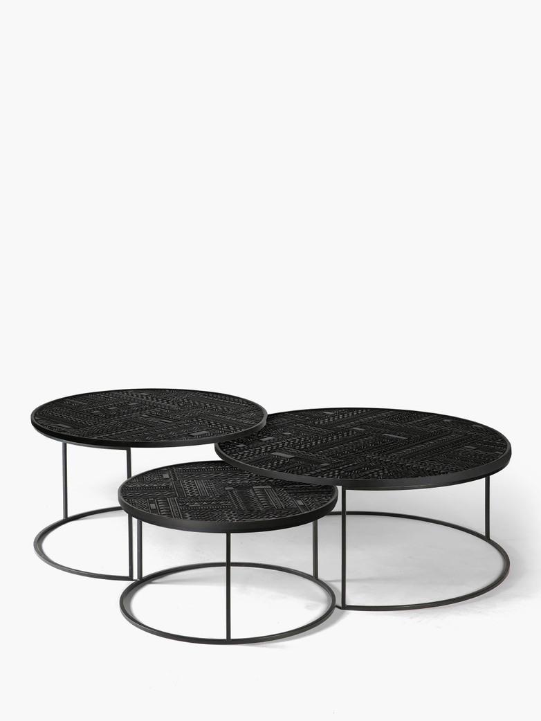Tabwa Round Nesting Coffee Table – Set of 3