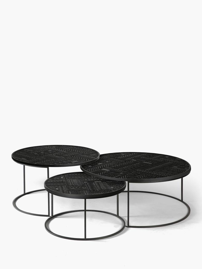 Tabwa Round Nesting Coffee Table – Set of 3