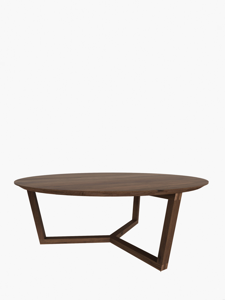 Tripod Coffee Table – Walnut – Ø96