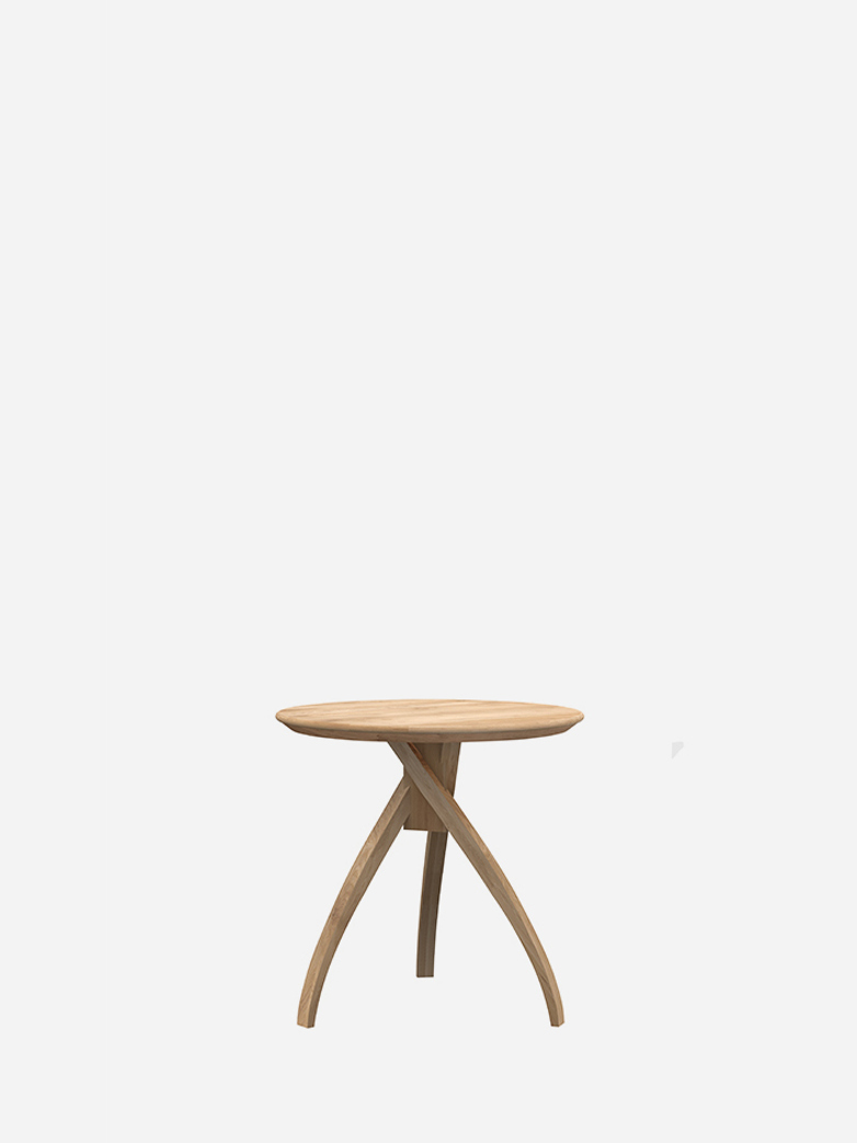 Twist Side Table – Oak – Small