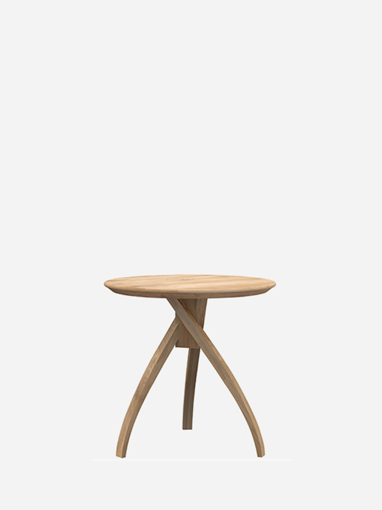 Twist Side Table – Oak – Medium