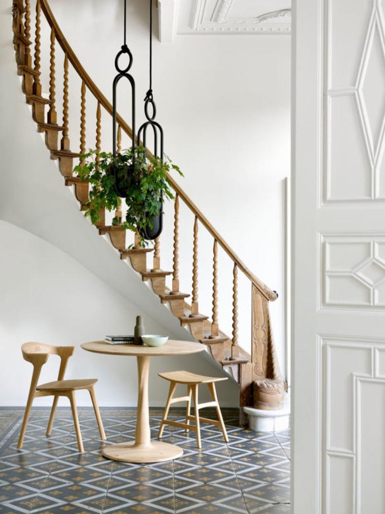 Twist Side Table – Oak – Large