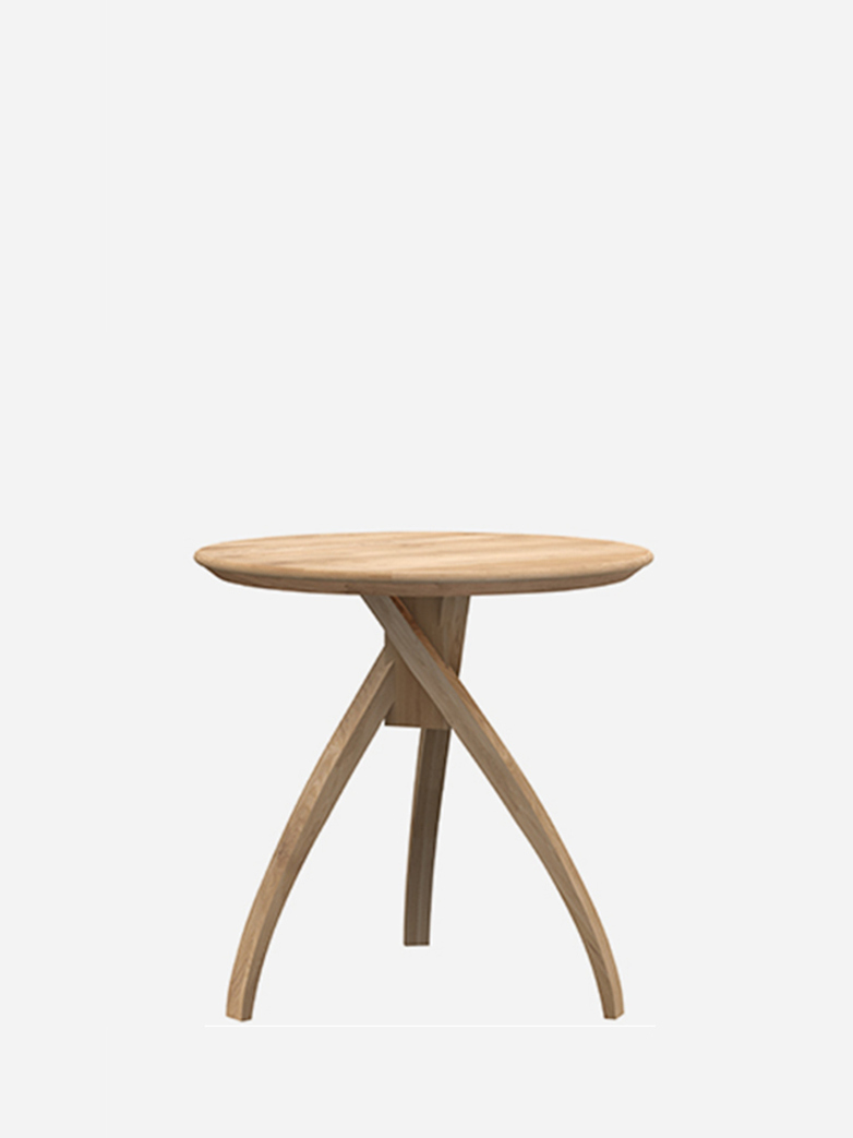Twist Side Table – Oak – Large