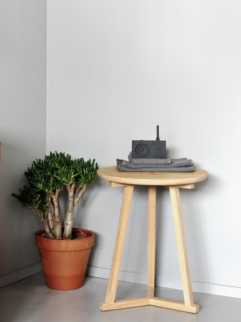 Tripod Side Table – Oak – Ø46
