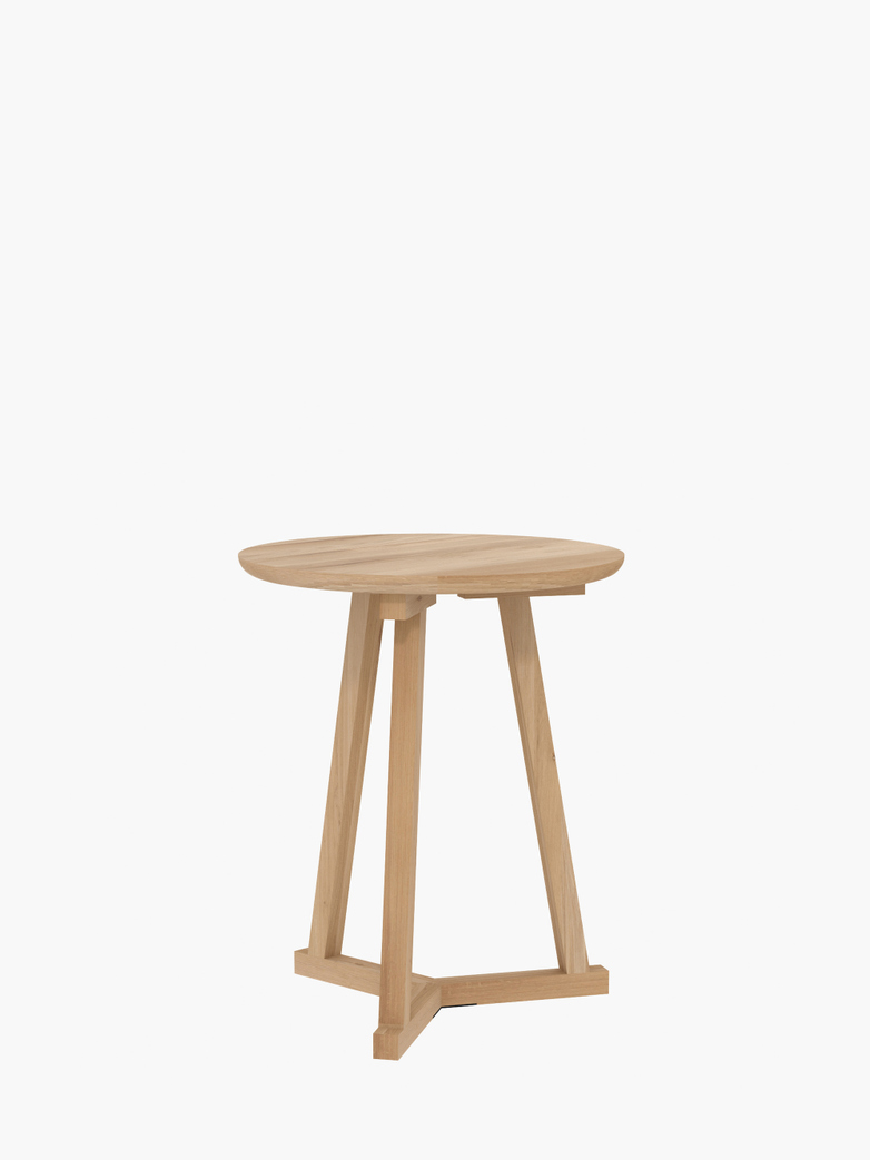 Tripod Side Table – Oak – Ø46