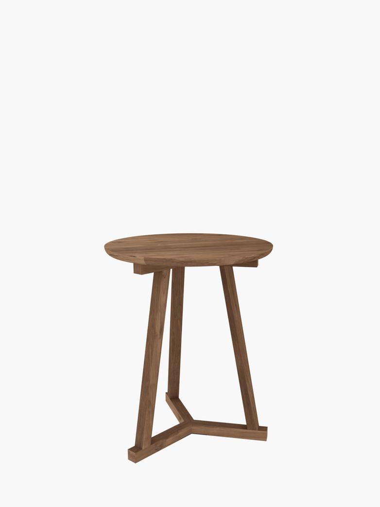 Tripod Side Table – Teak – Ø46