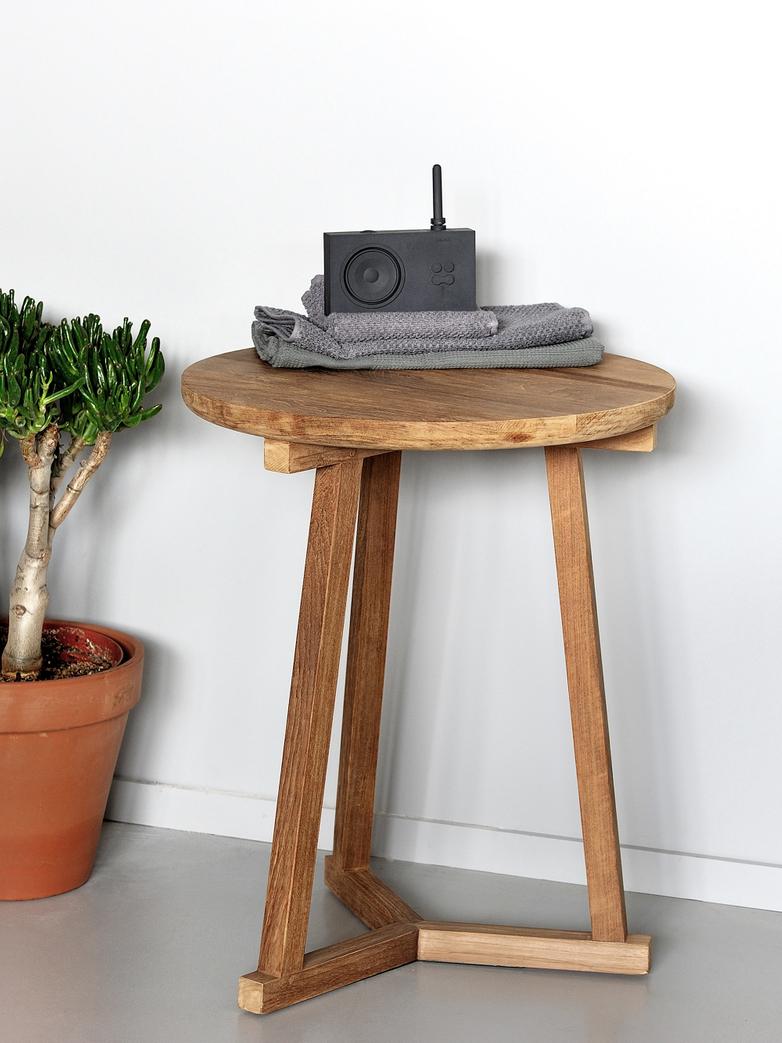 Tripod Side Table – Teak – Ø46