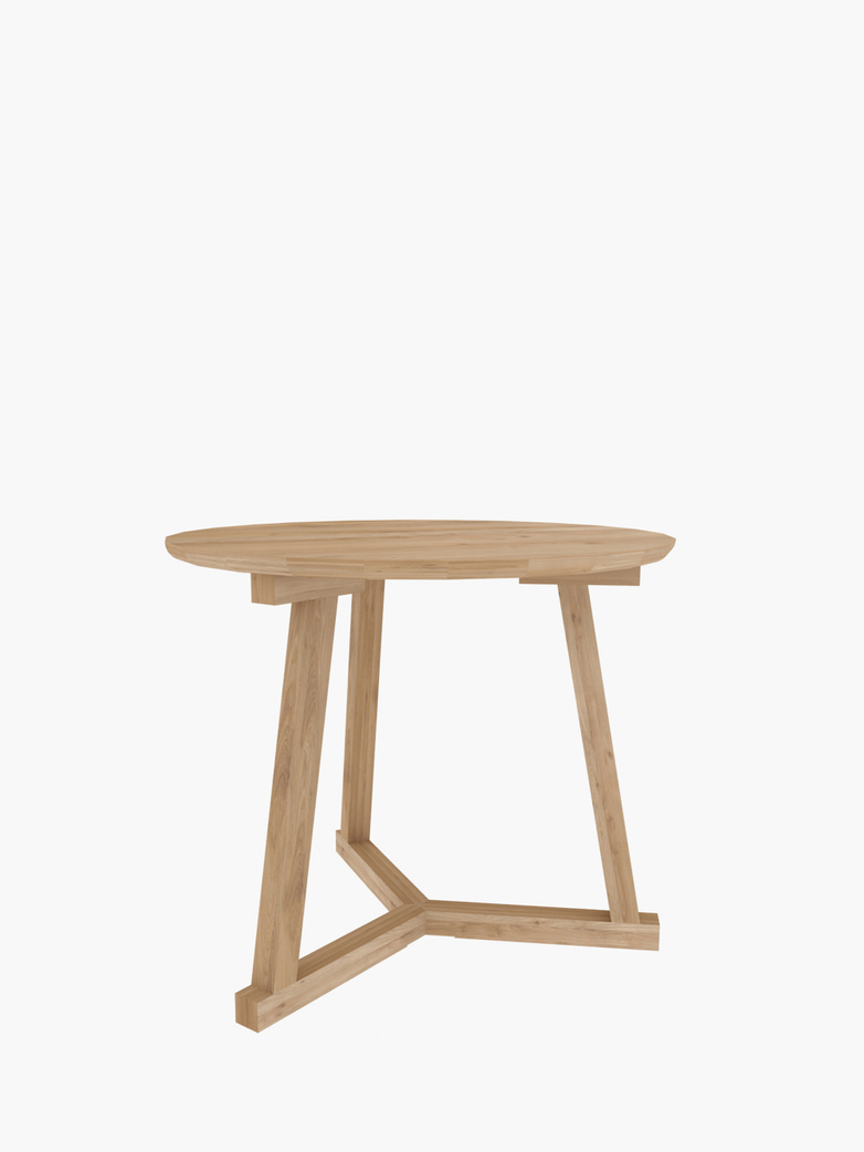 Tripod Side Table – Oak – Ø70