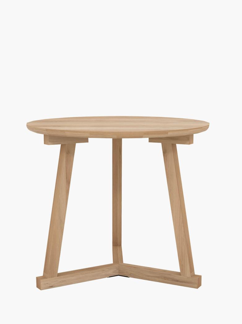 Tripod Side Table – Oak – Ø70