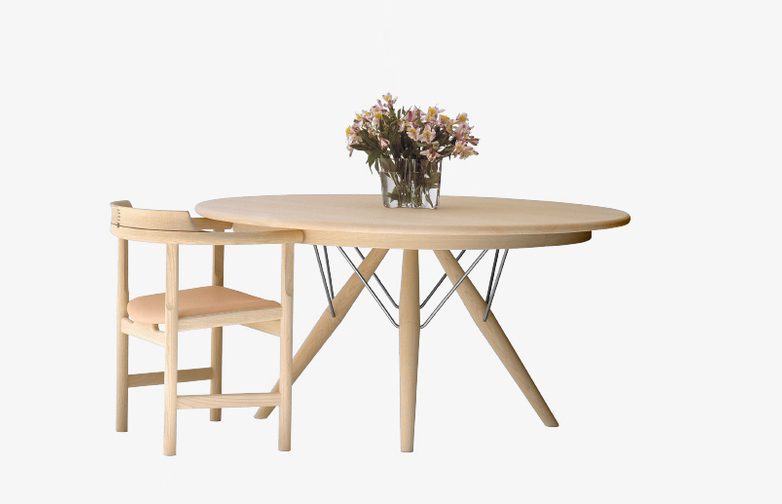 PP75 Table – Soaptreated Ash – Ø120