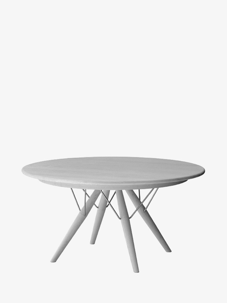 PP75 Table – Lacquered Oak – Ø120