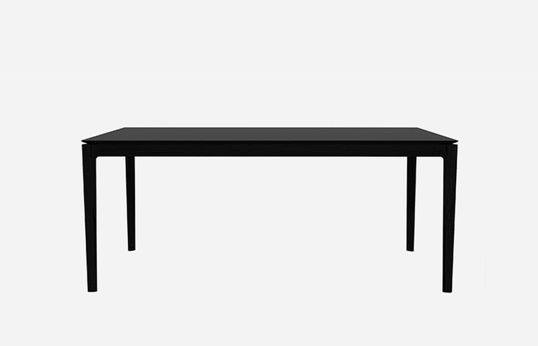 Bok Dining Table – Black Oak – 140 x 80