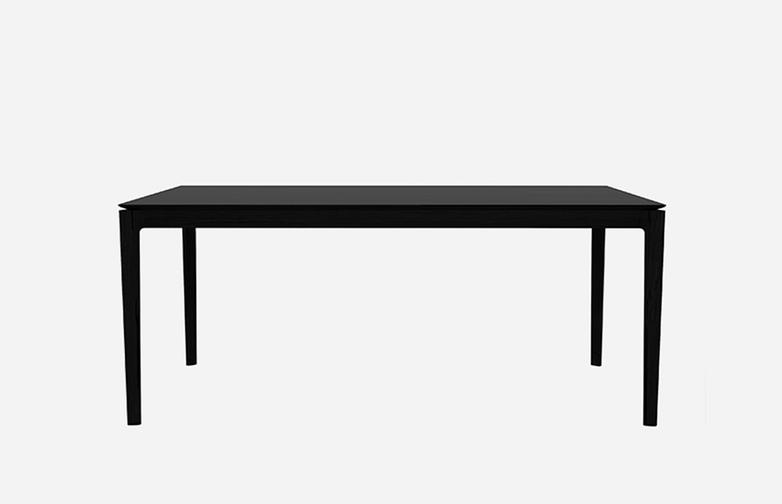 Bok Dining Table – Black Oak – 200 x 80