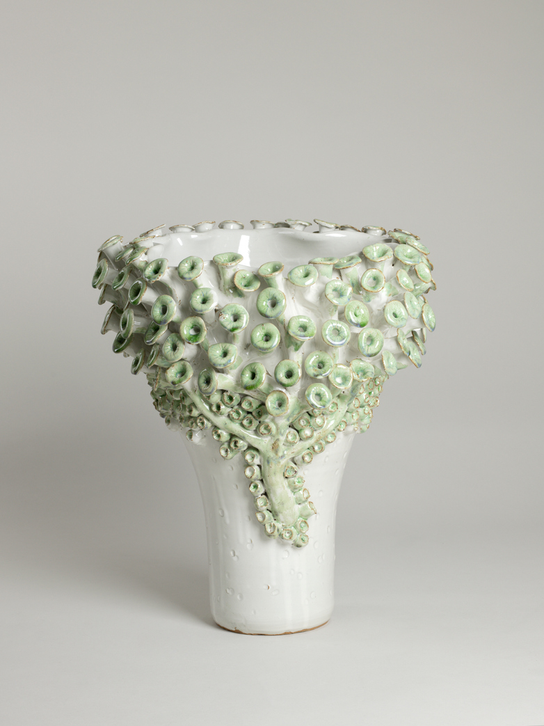 Vase Shell Oversized Green