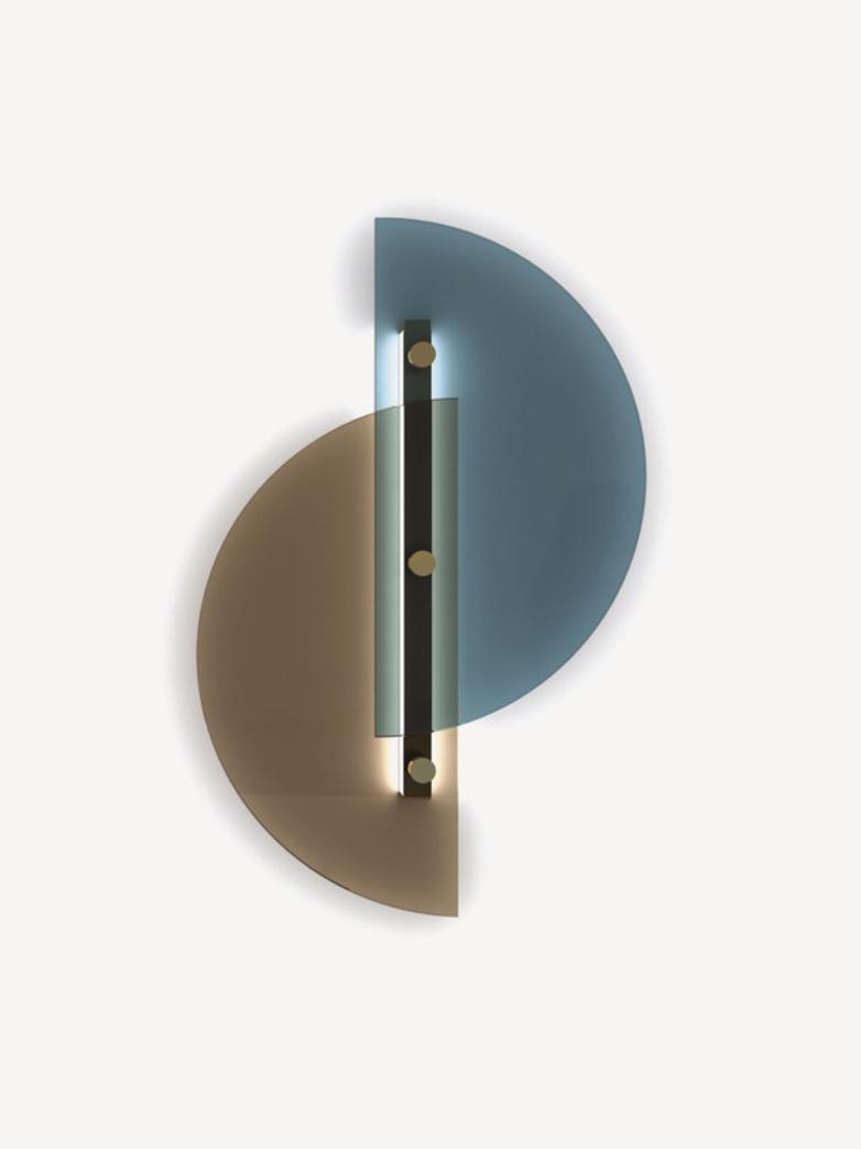 Papillon Wall Lamp – Blue/Bronze