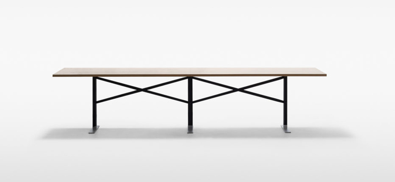 Ferric Table – Black Stained Oak / Ivory – 327 x 100