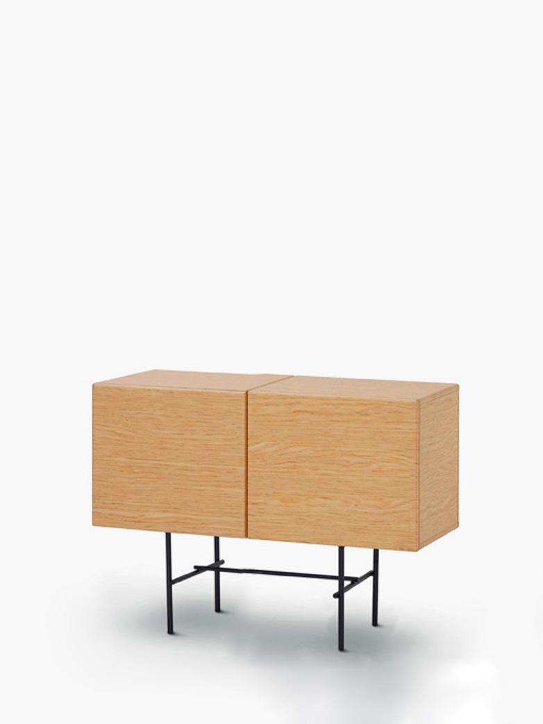Rubycon Cabinet – 2 Cubes – Oak