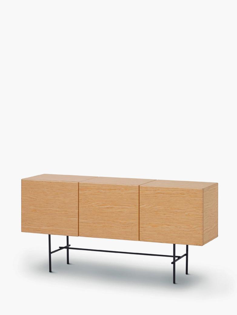 Rubycon Cabinet – 3 Cubes – Oak