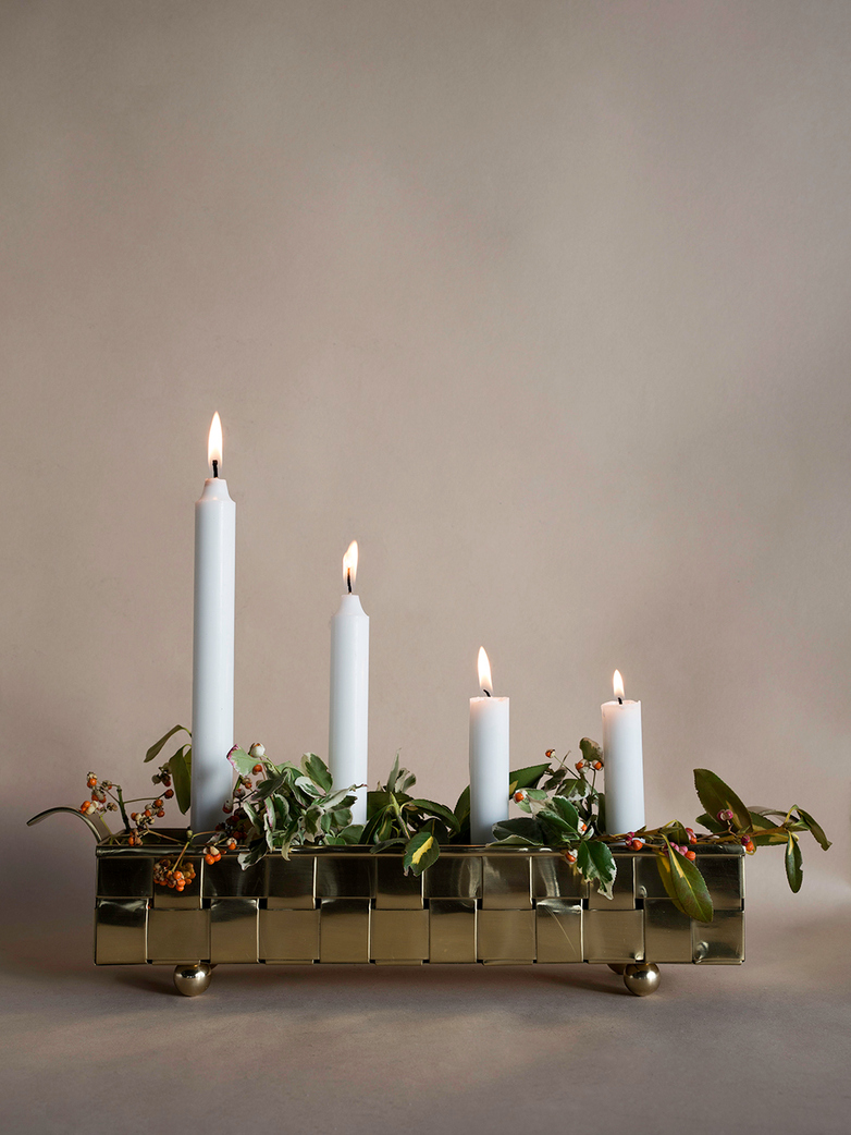 Näver Advent Candle Holder