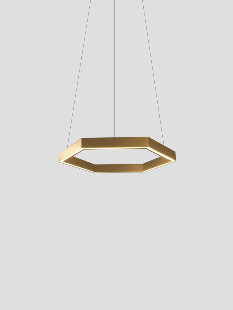 Hex 750 Pendant – Brass