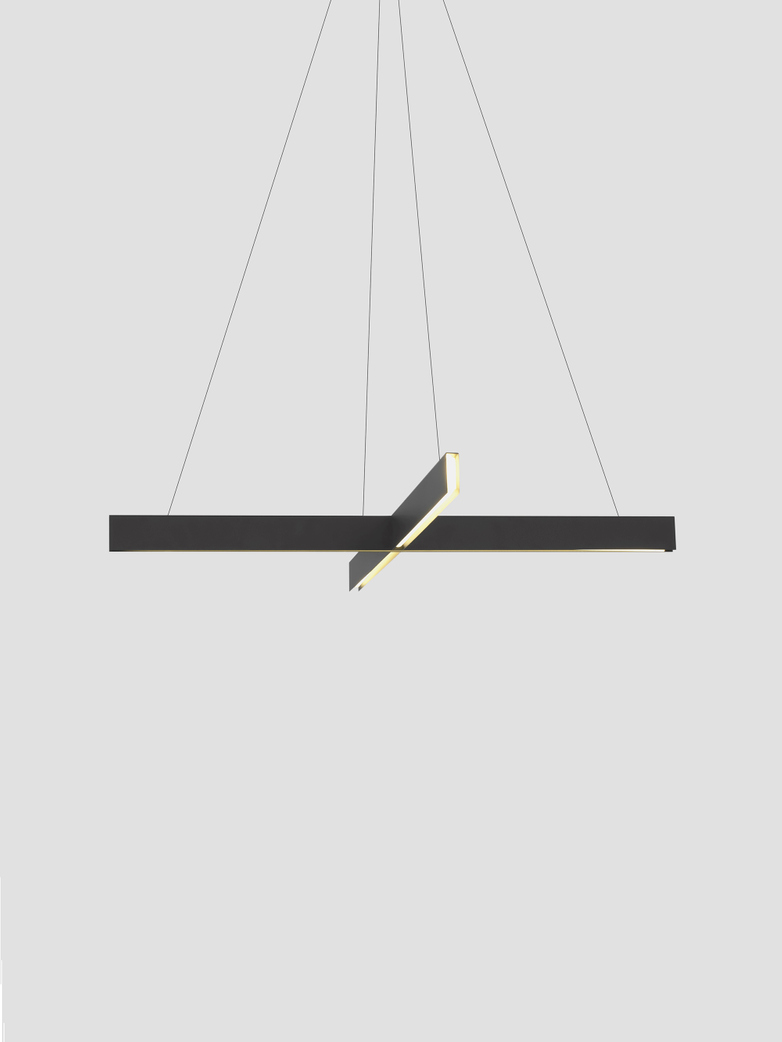 Cross Pendant – Black