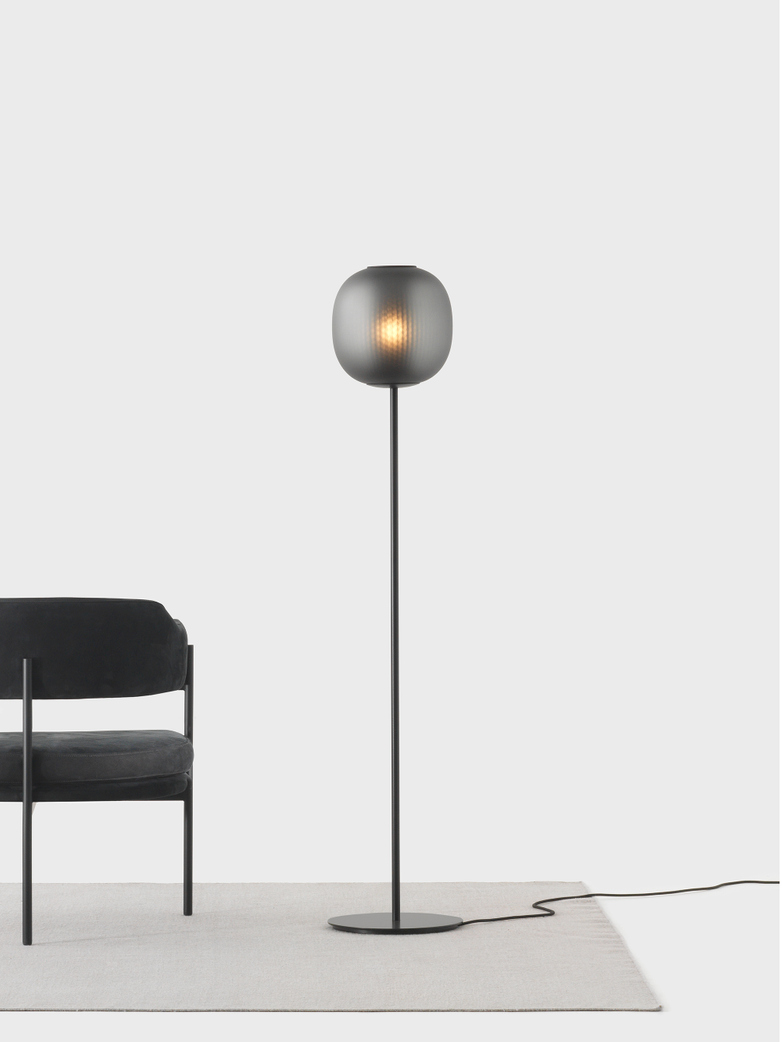 Bloom Floor Light – Black