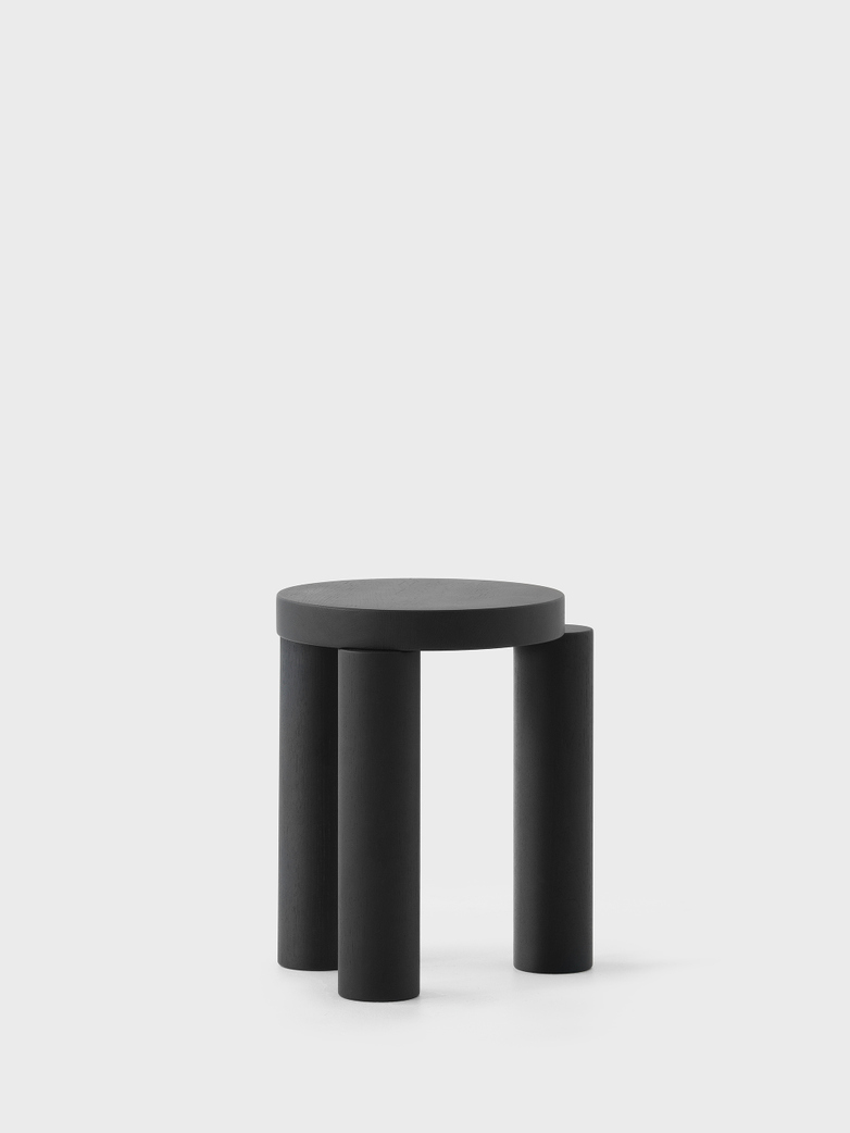 Offset Stool/Sidetable – Black