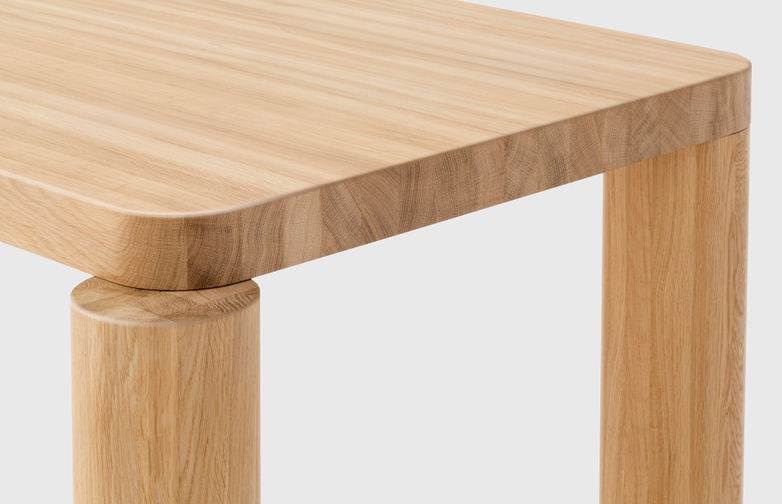 Offset Dining Table – Natural Oak