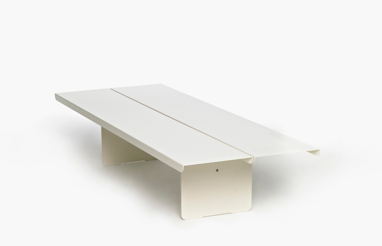 Flyover Coffee Table Long – White