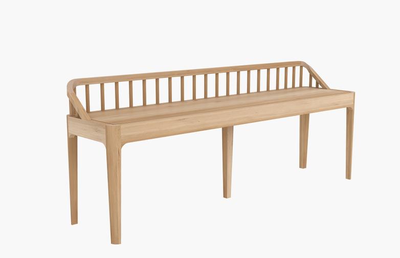 Spindle Bench – Oak