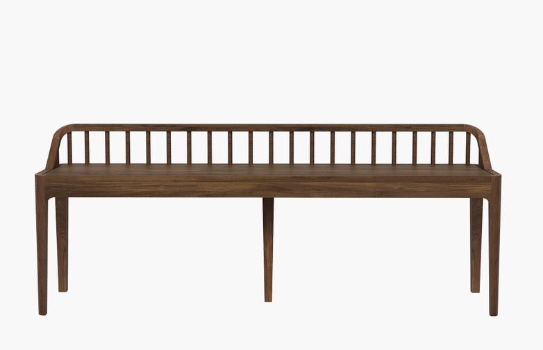 Spindle Bench – Walnut