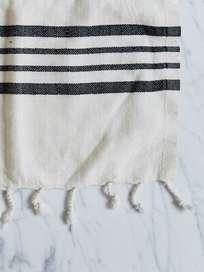 Hamam Beach Towel 100x180cm Raw Black