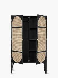 Retro Webbing Clothing Cabinet – Black